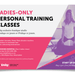 4 on 1 Ladies-Only Personal Training Classes